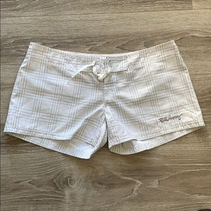 Billabong White and Grey Shorts.